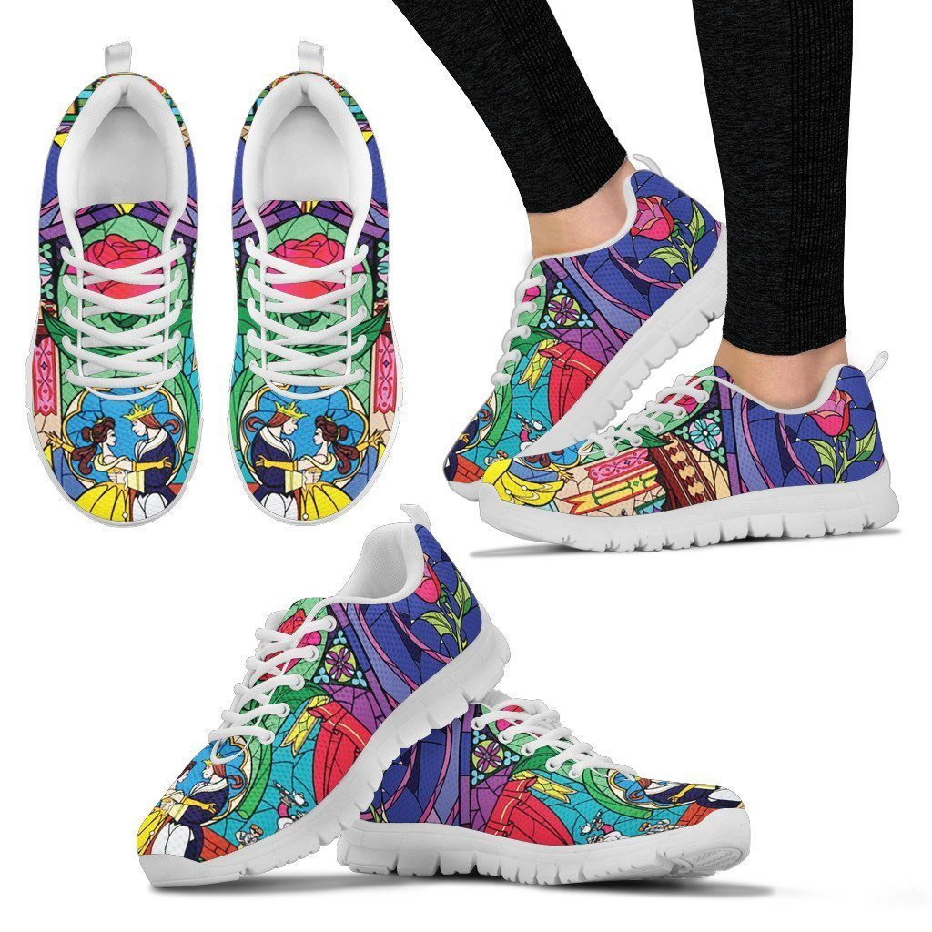 Beauty and the Beast inspired running shoes