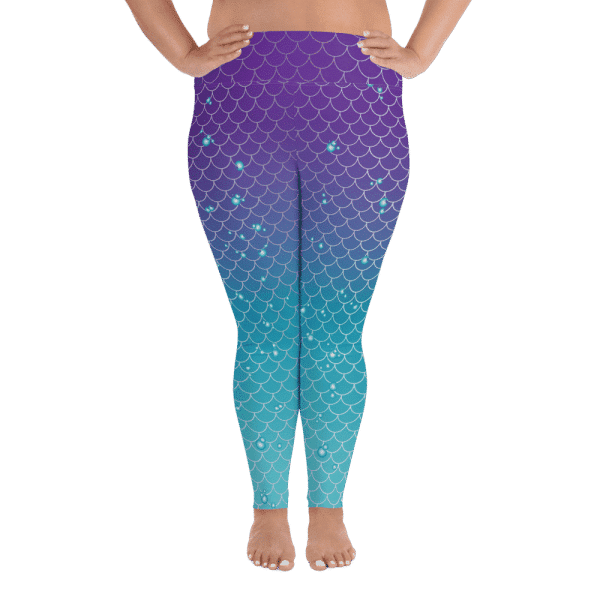 Mermaids and Bubbles | Curvy Leggings  | Made in the USA
