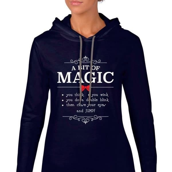 A-bit-of-magic-ladies-lightweight-hoodie-navy