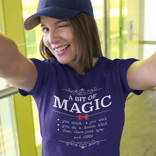 A-bit-of-magic-unisex-cotton-poly-crew-navy-model