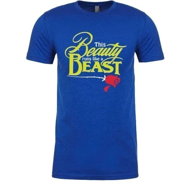 Beauty-Runs-like-a-beast-unisex-cotton-poly-crew