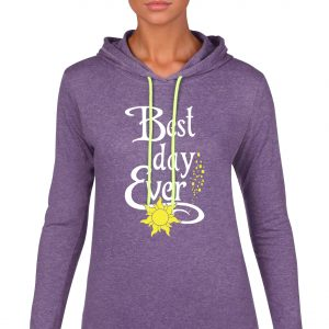 Best-day-ever-ladies-lightweight-hoodie-purple