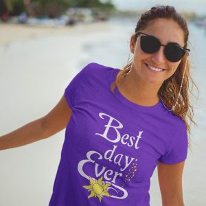 Best-day-ever-ladies-triblen-crew-purple-model