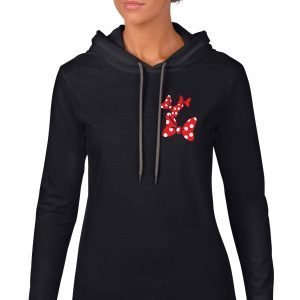 Dots-and-bows-ladies-lightweight-hoodie-black