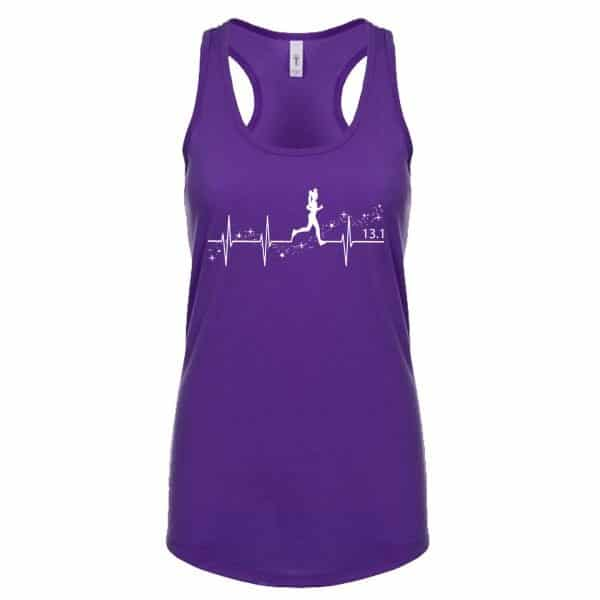 Heartbeat-of-magic-ladies-cotton-poly-tank-top-purple