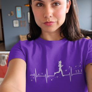 Heartbeat-of-magic-unisex-cotton-poly-crew-purple-model