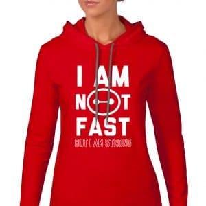 I-am-not-fast-ladies-lightweight-hoodie-red-