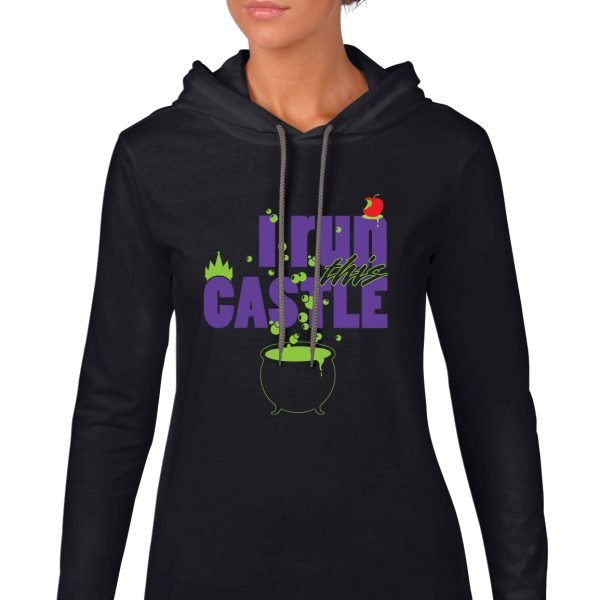 I-run-this-castle-ladies-lightweight-hoodie-black