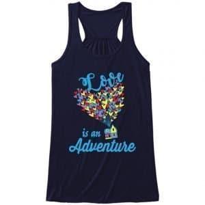 Love-is-an-adventure-ladies-flow-tank-top-navy