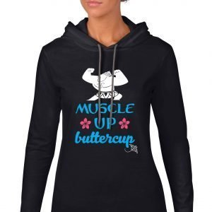 Muscle-up-buttercup-lightweight-hoodie-black