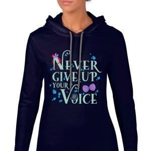 Never-Give-Up-Your-Voice-Ladies-Lightweight-Hoodie-Navy
