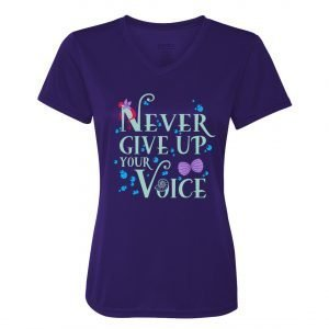 Never-Give-Up-Your-Voice-Ladies-Performce-Vneck-Purple