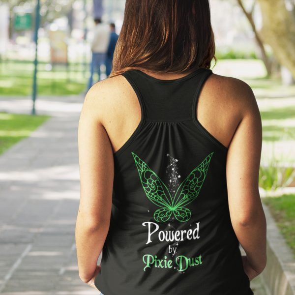 Powered-by-pixie-dust-back-ladies-flowy-tank-black-model