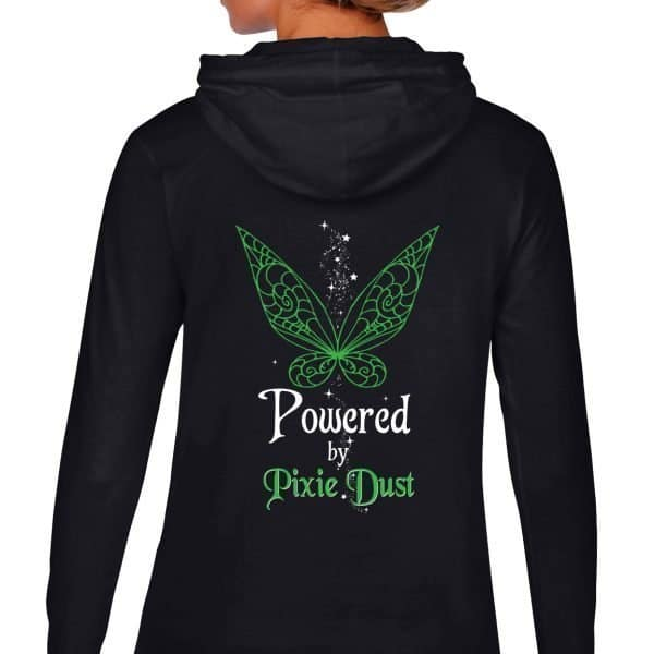 Powered-by-pixie-dust-back-ladies-lightweight-hoodie-black