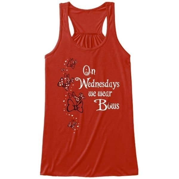 We-wear-bows-ladies-flowy-tank-red