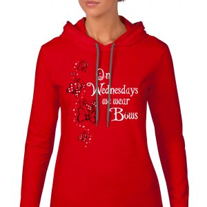 We-wear-bows-ladies-lightweight-hoodie-red