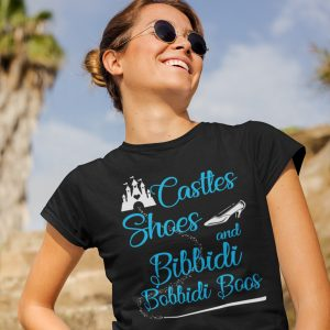 castles-shoes-and-bibbidi-bobbidi-boos-unisex-cottton-poly-crew-black-model