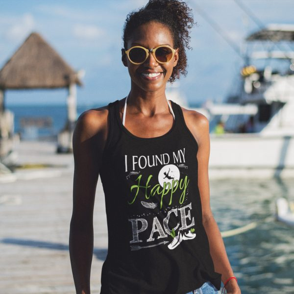 found-my-happy-pace-ladies-flowy-tank-black-model