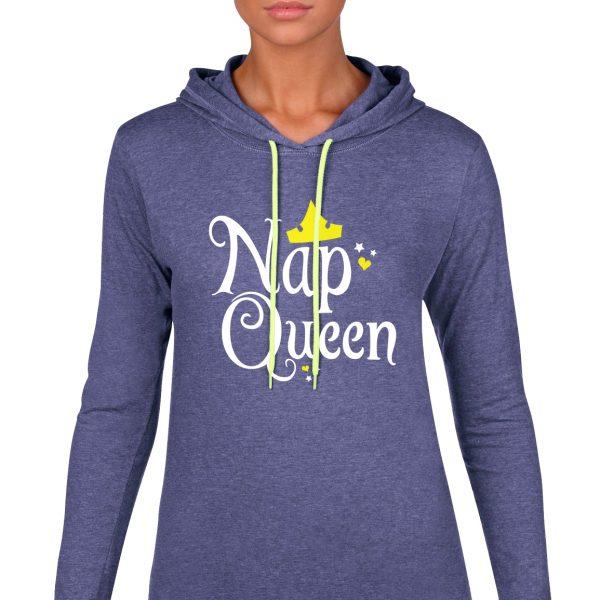 nap-queen-ladies-lightweight-hoodie-royal