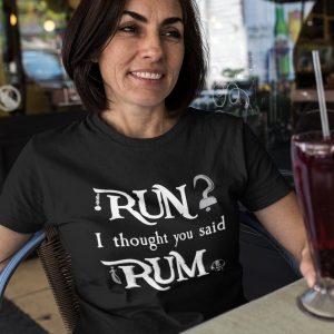 run-i-thought-you-said-rum-unisex-cotton-poly-crew-black-model