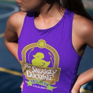 snuggly-duckling-race-team-ladies-poly-cotton-tank-top-purple-model