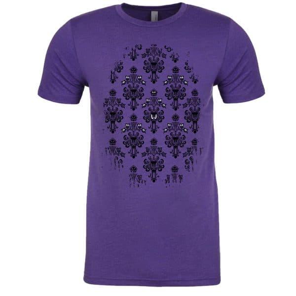 Magically-Haunted-unisex-tee-Purple