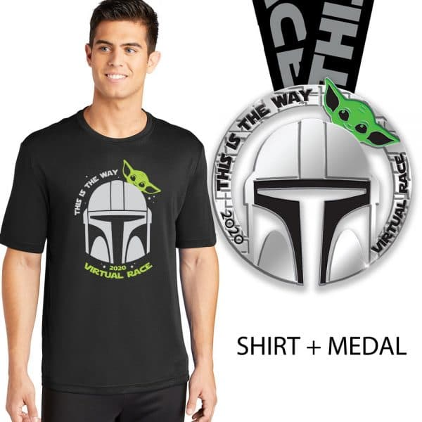 This is the way unisex crew and medal