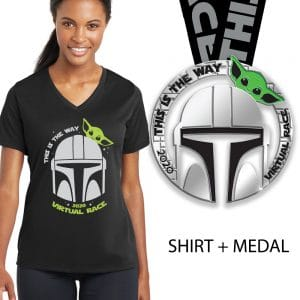 This is the way - Vneck and medal