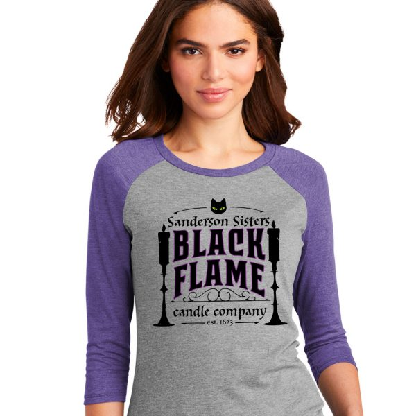 Black Flame Candle Co Raglan Tee