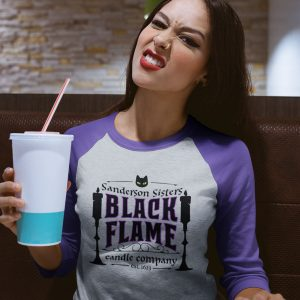 black flame candle co. shirt