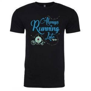 Always-running-late-unisex-cotton-poly-black